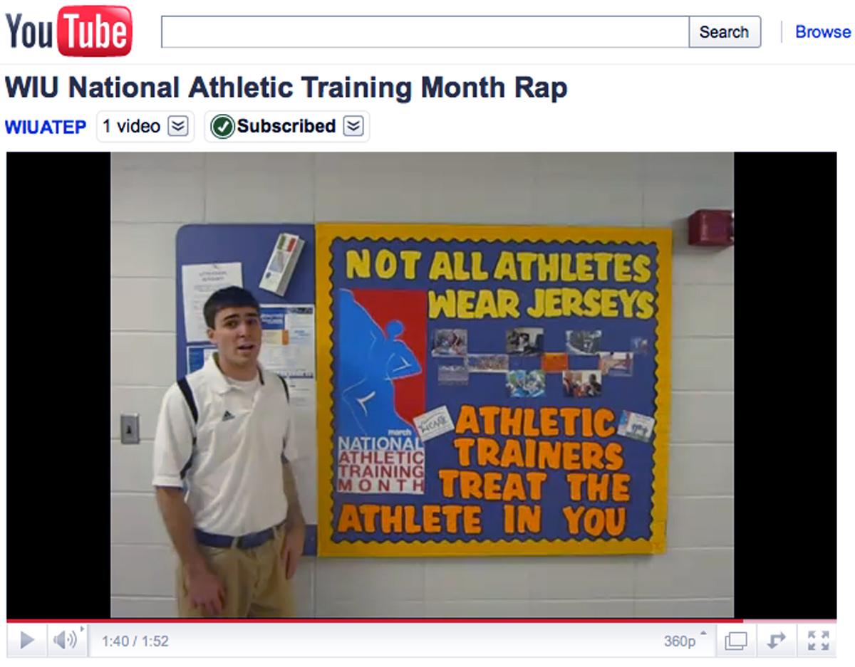 Athletic Training Students Celebrate Athletic Training