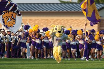 Hello Western Fans! I'm Rocky, the mascot for Western Illinois University.