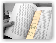 Photo of a book with a yellow bookmark