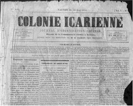 Image of the Colonie Icarienne newspaper
