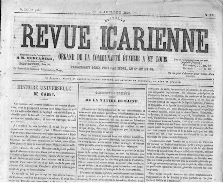 Image of the Revue Icarienne newspaper