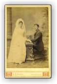 Marie Marchand & William Ross Wedding day (June 15, 1888)