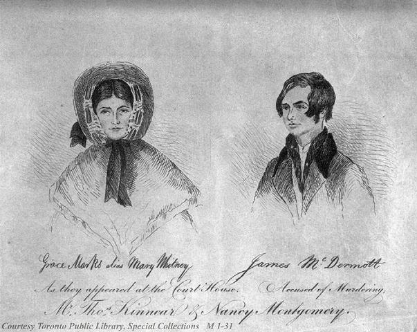 Depiction of Grace Marks and James McDermott