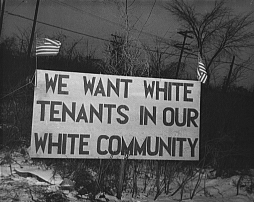 Photo of Signage depicting support of white tenancy