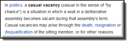 Photo of Wikipedia Definition for Casual Vacancy