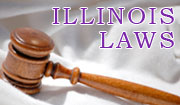 Image of a gavel with the text Illinois Laws