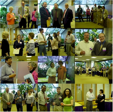 Collage of photos from the 2005 author's reception.