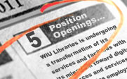 Position Openings Image - News Paper with red circle around job listing.