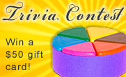 Image of a Trivial Pursuit game piece: Trivia Contest, Win a $50 gift card!