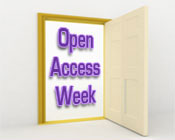 Illustration of an open door with the text Open Access Week