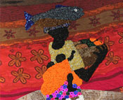 Photo of Edna beadwork.