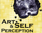 Silver cat mask and the text Art and Self Perception