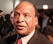A photo of Illinois Secretary of State Jesse White at Rahm Emanuel Victory Party 2011
