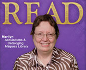 Photo of Marilyn Shelley from her READ poster.