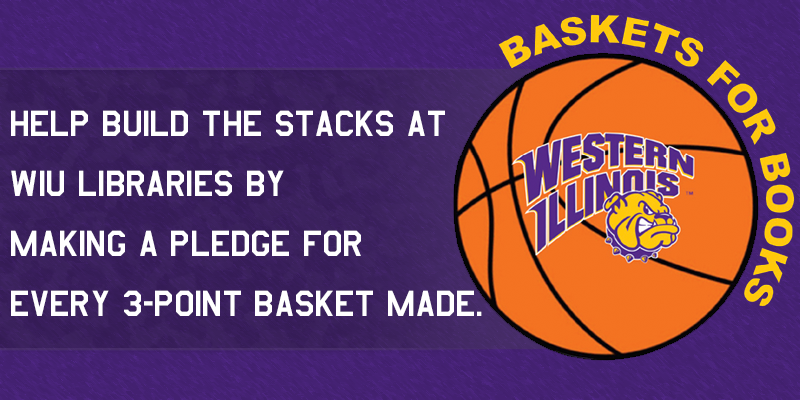 Image basketball with WIU rocky logo and text about event