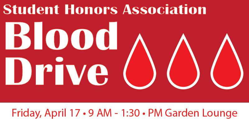 Banner image with text and droplet images representing blood.