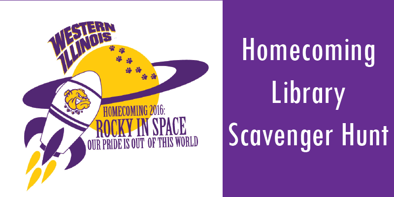 WIU Homecoming logo with rocket ship in front of a planet.