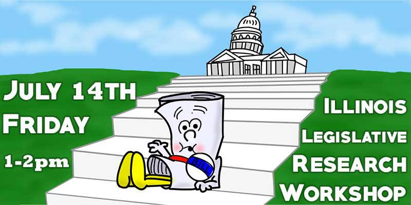 Image with drawing of I'm Just a Bill Cartoon from School House Rock with text about event