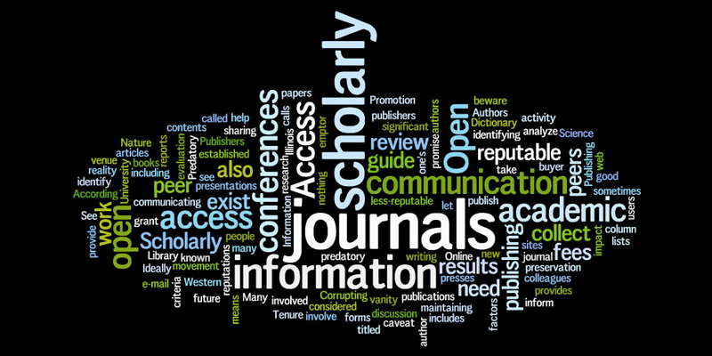 Image of a scholarly communication word collage