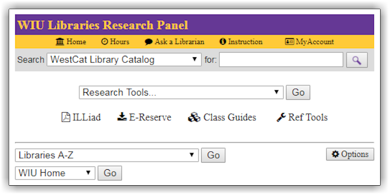 Image of WIU Libraries Research Panel