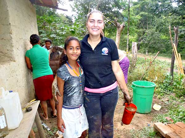 Peace Corps Campus Recruiter Lexie Woodward in Nicaragua.