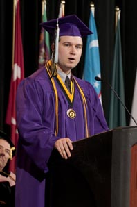 Spring 2010 Honors Convocation Speaker Michael Kwiatkowski.