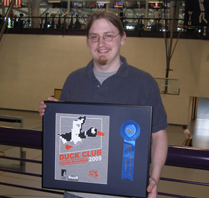 Recent WIU graduate Alex Lake with his winning t-shirt design.