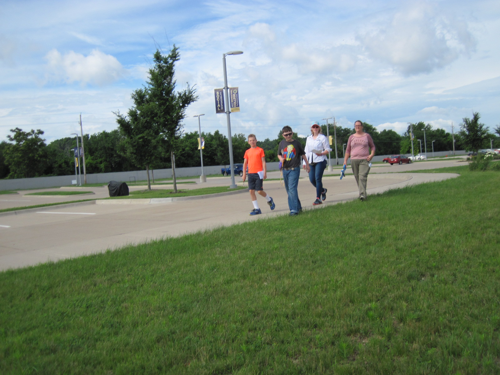 Students Walking.