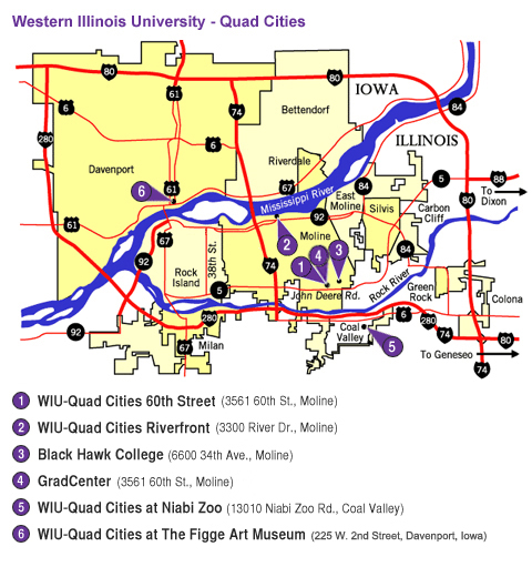Quad City Campus Map