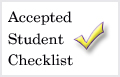 Accepted Student Checklist
