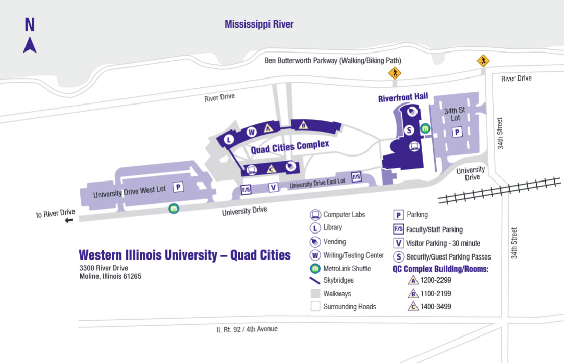 Maps And Directions Quad Cities Campus Western Illinois University