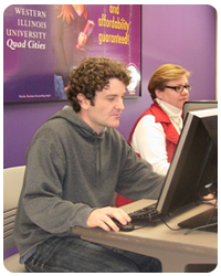 WIUQC Student in Computer Lab