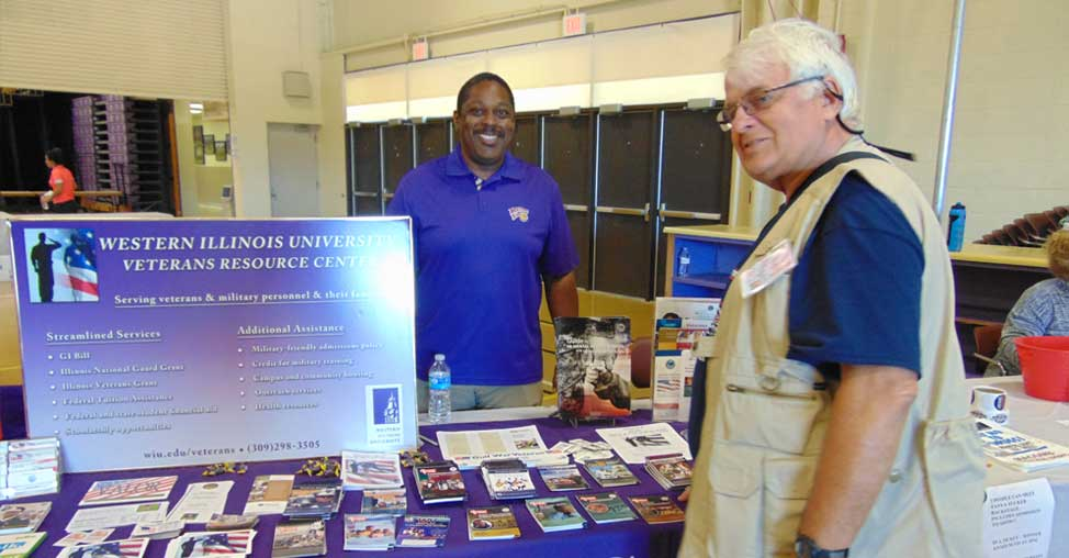 WIU Veterans Resource Center Table