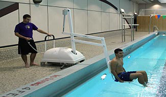Pool lift in Aquatics Center