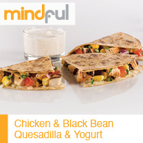 Chicken and Black Bean Quesadilla