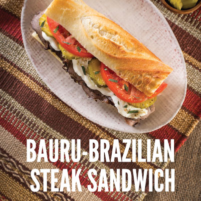 Bauru-Brazilian Steak Sandwich