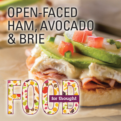 Open-Faced Ham, Avocado & Brie