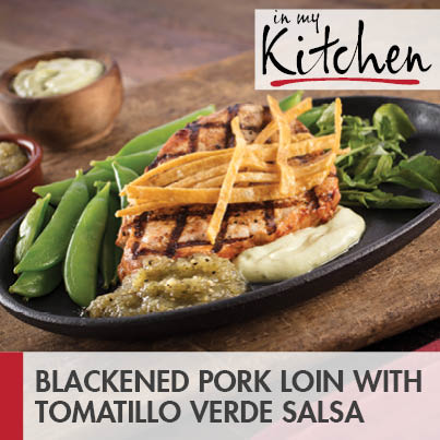 Blackened Pork Loin with Tomatillo Salsa