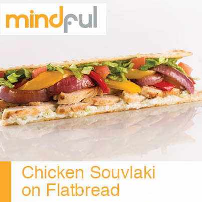 Chicken Souvlaki on Flatbread