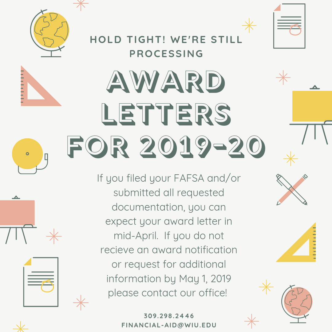 Award Letter Processing 2019-20