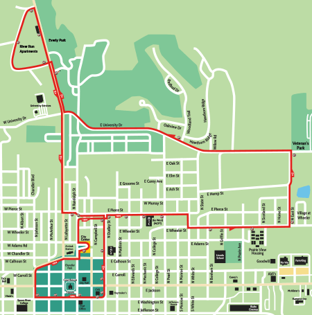 screenshot of Route 18 - North PDF map
