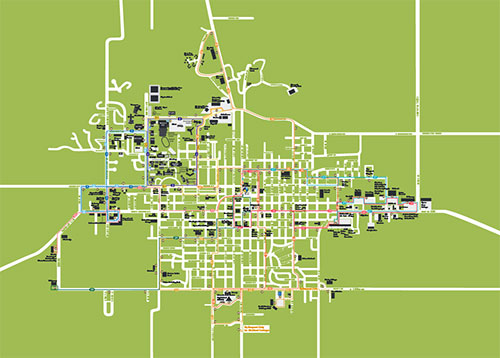 Map of WIU Carousel Routes