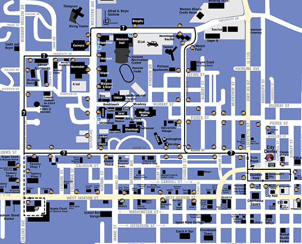 Map of Route 7 - Black