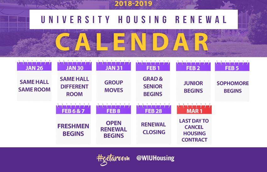 Housing Renewal Calendar