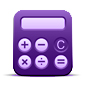 Illustration of a purple calculator
