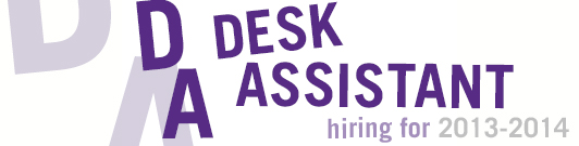 Desk Assistant Selection for 2012-2013