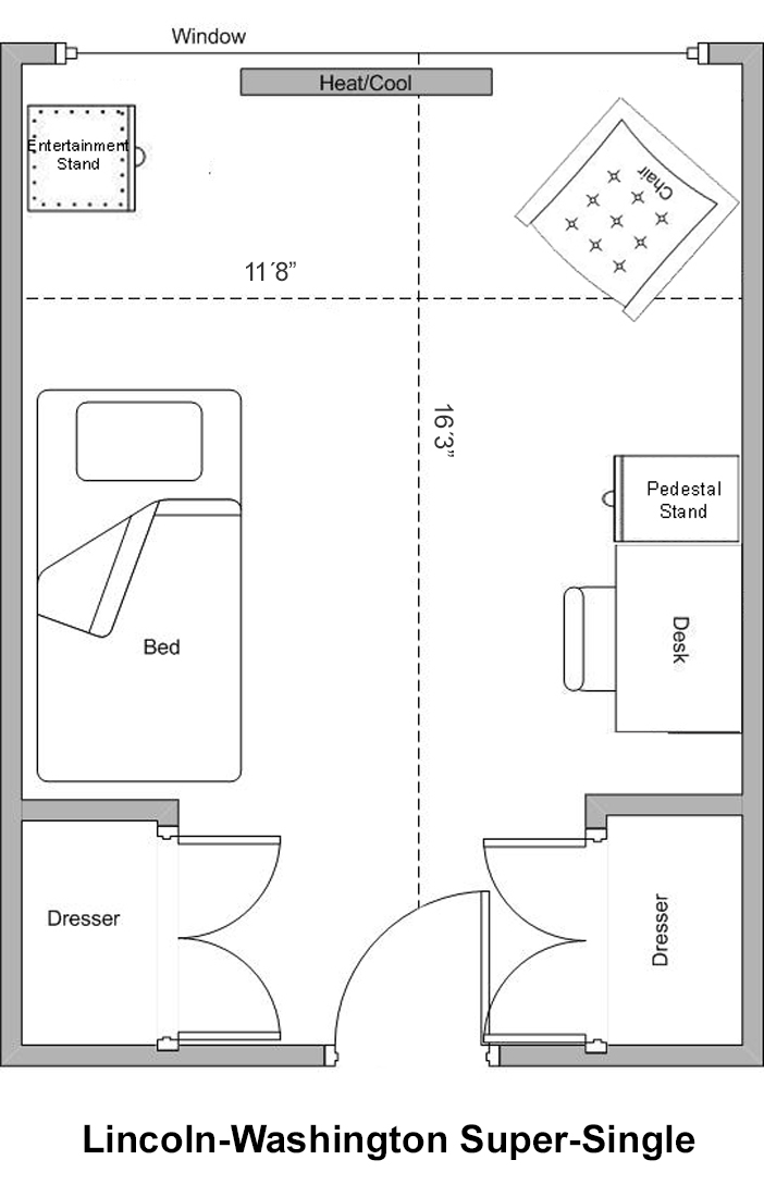 Linc-Wash Super Single Floorplan