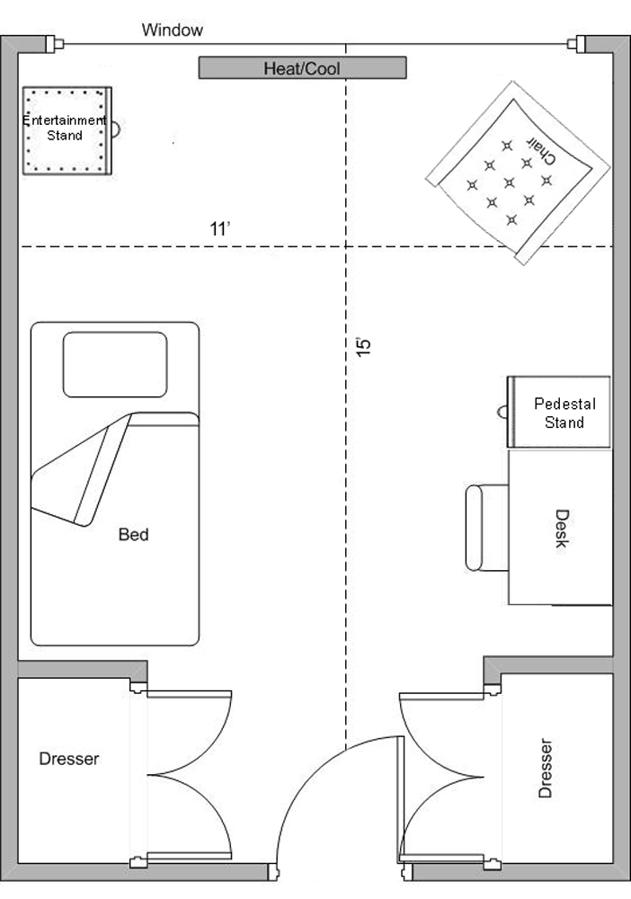 Lincoln-Washington Floorplan - Super Single
