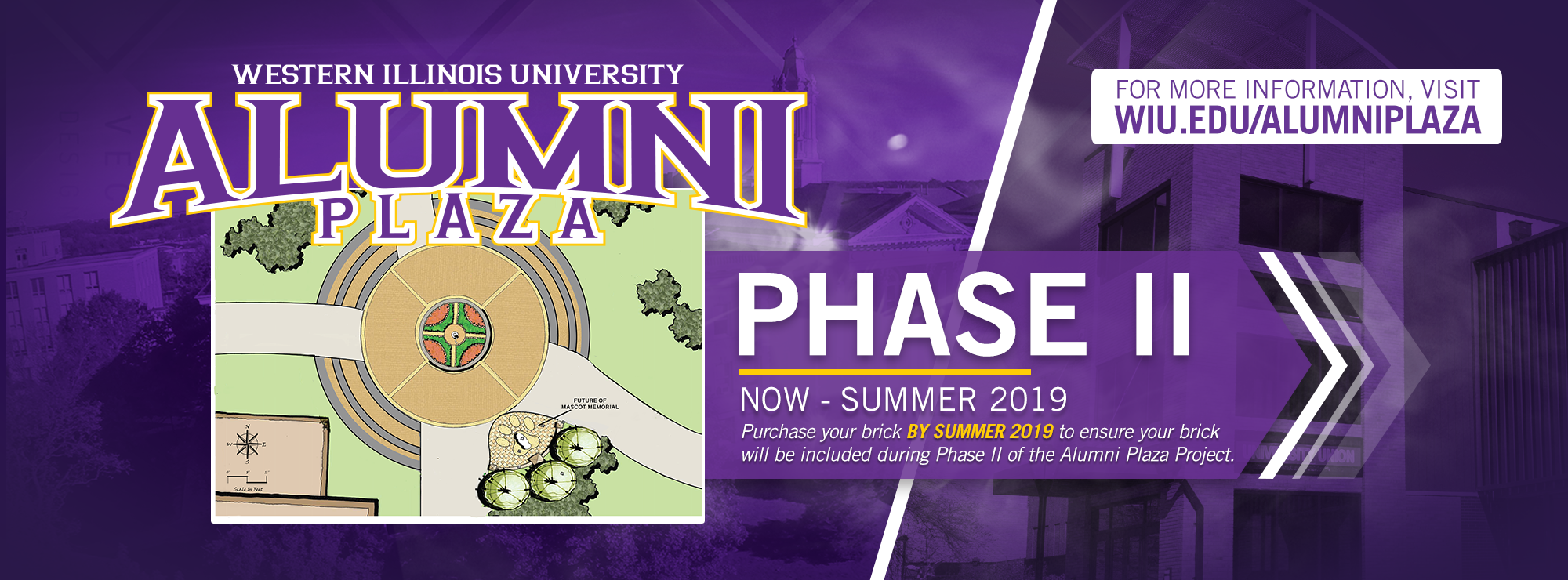 WIU Alumni Plaza Phase 2 graphic