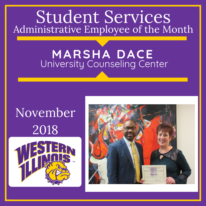 Administrative Employee of the Month: Marsha Dace, University Counseling Center